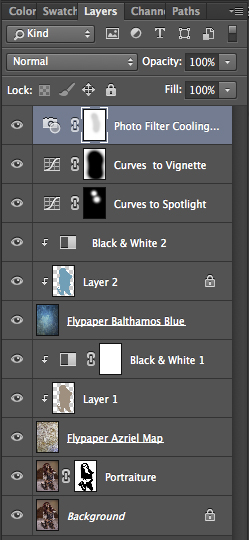 Screen shot of the Layer Panel.