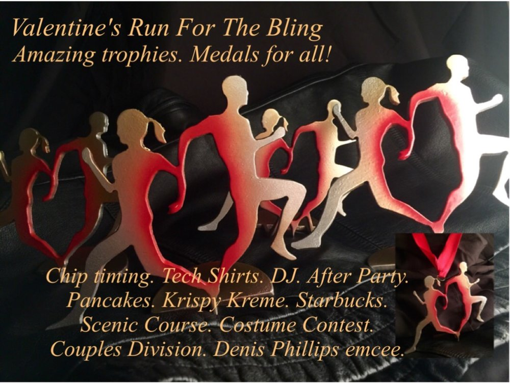 Valentines Day Run For The Bling