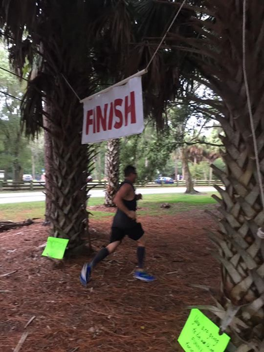 Mark finishing his 46 mile Pinellas Trail Challenge.