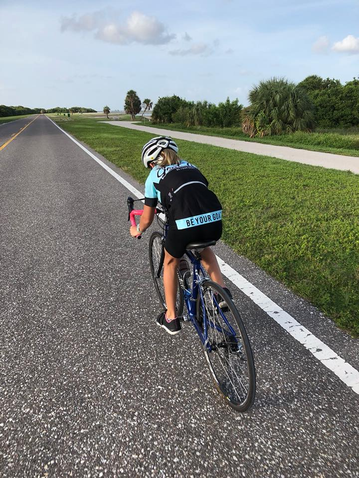 Coach Katie's daughter Abby racing the Fort DeSoto Time Trial Series! GO ABBY!