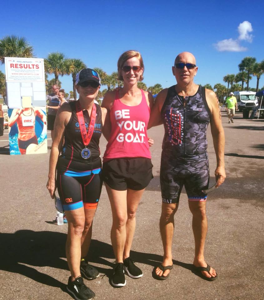 Tarpon Springs triathlon GOATS!