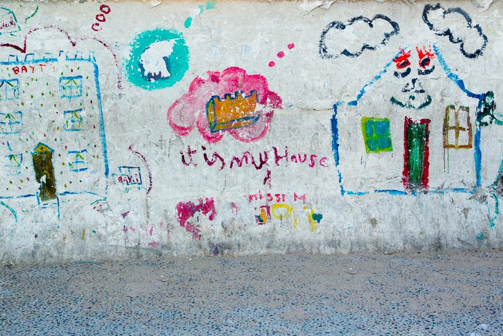 Children graffiti, Morocco
