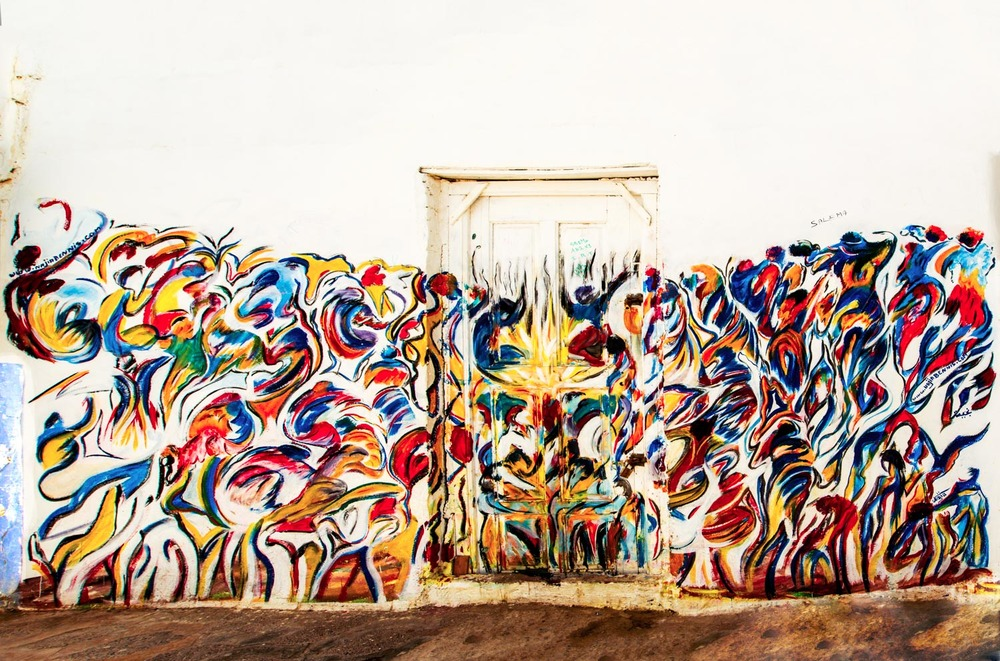 Colourful grafitti, Morocco