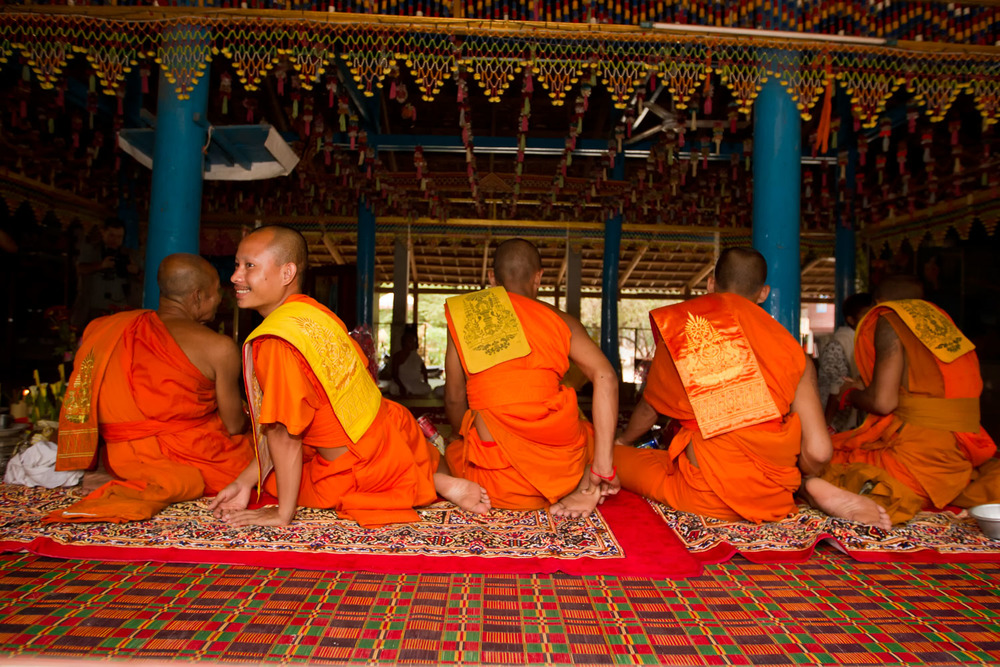 The monks, Cambodia