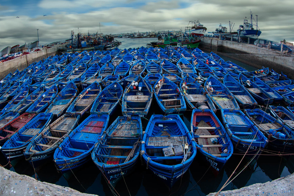 Fisher boats in Morocco