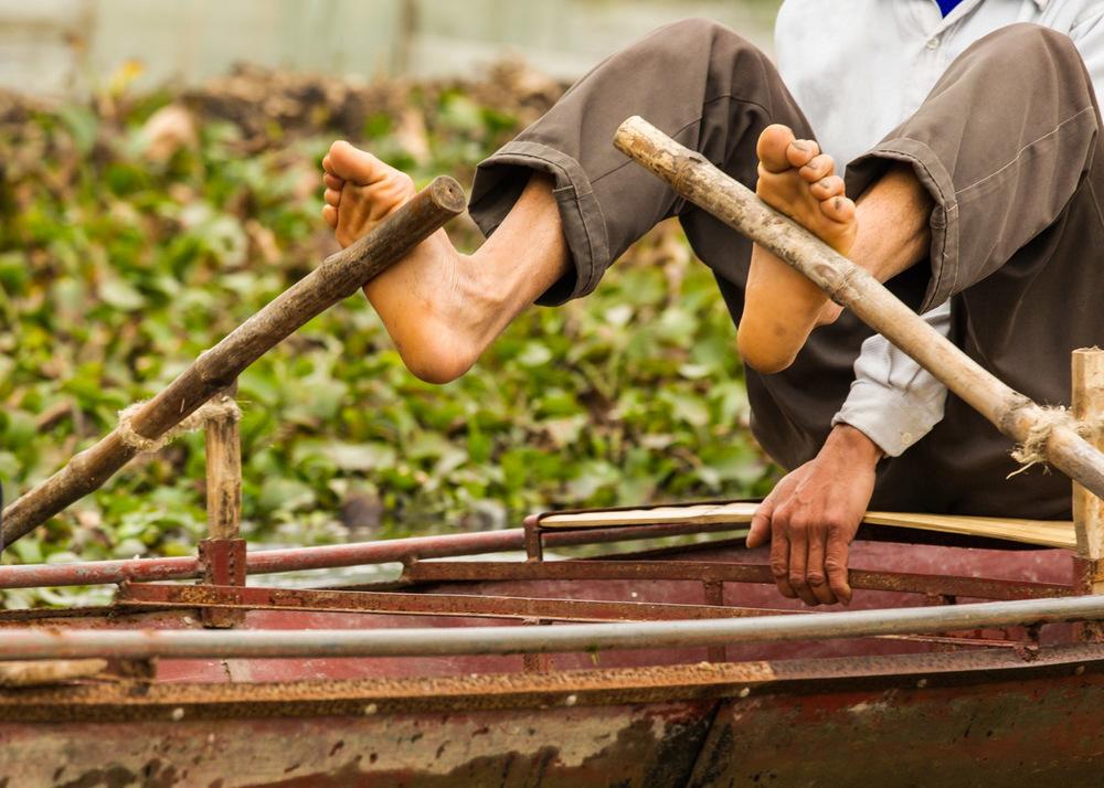 Feet rowing