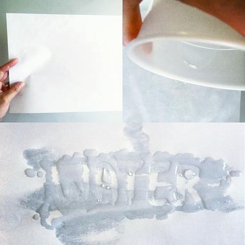 water + wax