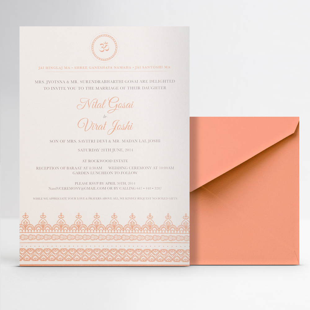 Graphic Design of Wedding Invitation Collateral