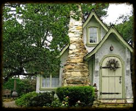 The famous Hansel and Gretel Cottage designed by Hugh Comstock located in Carmel by the Sea, California. Photo by talesfromcarmel.com
