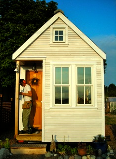 tiny house under construction
