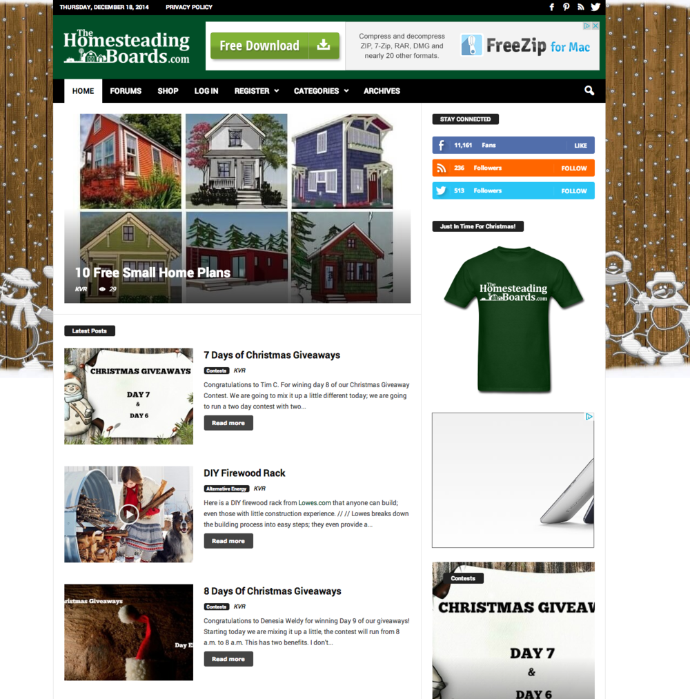 Read about THE small HOUSE CATALOG on the very cool... www.thehomesteadingboards.com