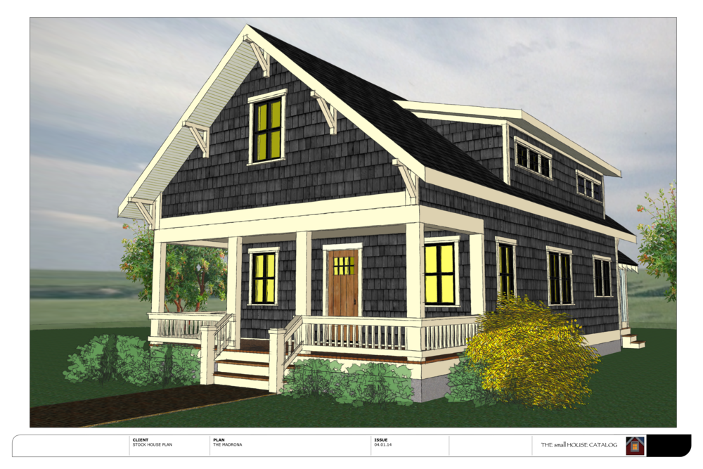 New free plan the madrona bungalow the small house catalog for Classic cottage house plans