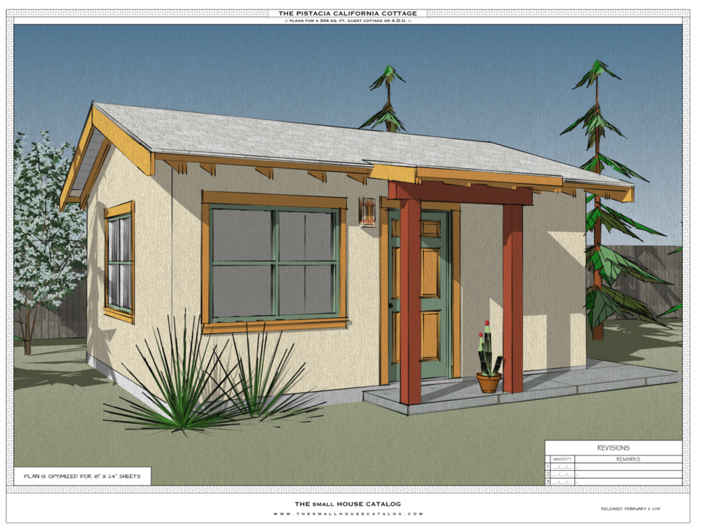 Pistacia sketchup model redesign your cottage the for Accessory dwelling unit plans