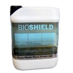 "Bioshield Aqua Resin floor finish is a non-toxic polyurethane ""whitewash"" for wood floors."
