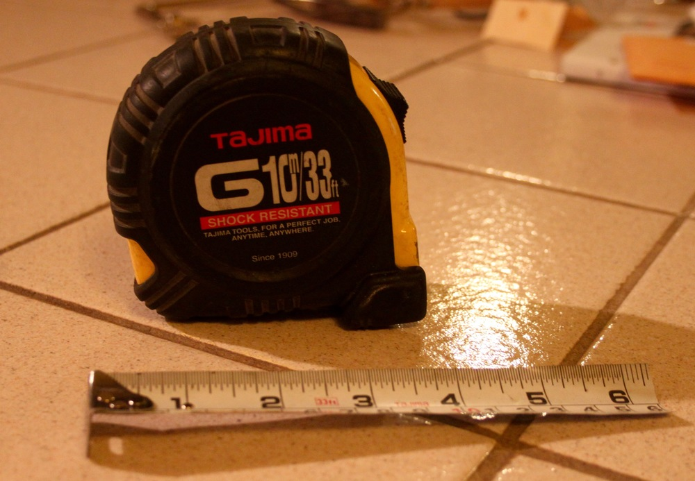My broken Tajima tape measure with zero customer service...sigh.