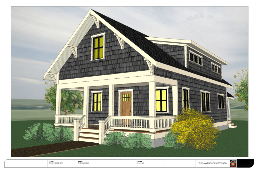 No 11 the madrona the small house catalog for House plans with shed dormers