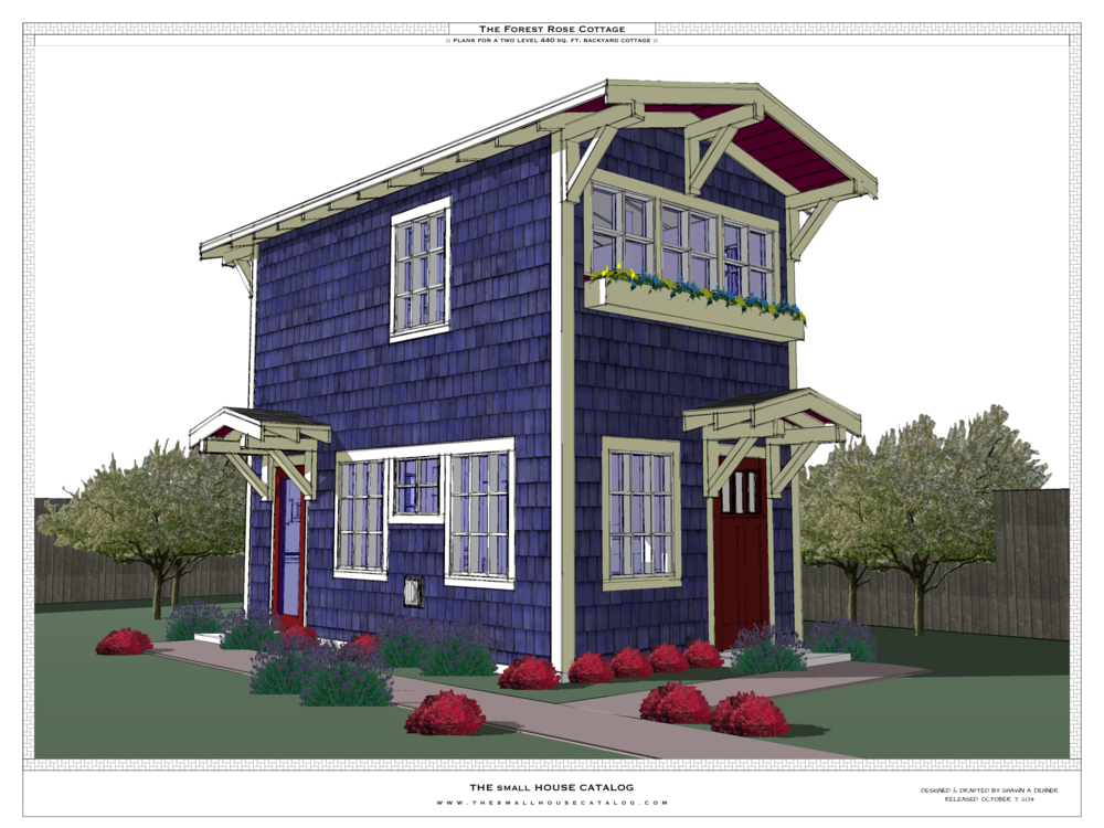 No 7 the forest rose the small house catalog for Small house plans that live large