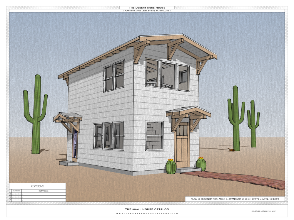 the desert rose is a client designed modification of the forest rose accessory dwelling unit this newer version is slightly larger and intended for - Small House Plans