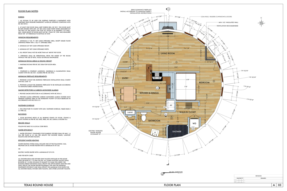 No 27 round house the small house catalog for Circular house floor plans