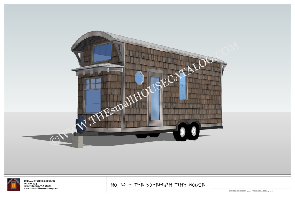 No 30 the bohemian tiny house on wheels building plan for Small house design on wheels