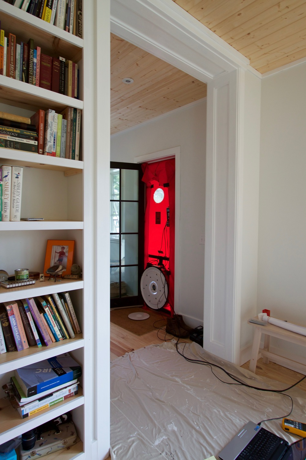 Blower door test results: ACH50 1.13