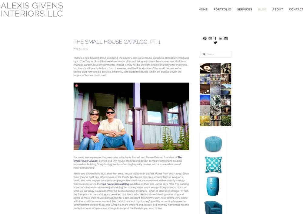 Alexis Givens Design Blog