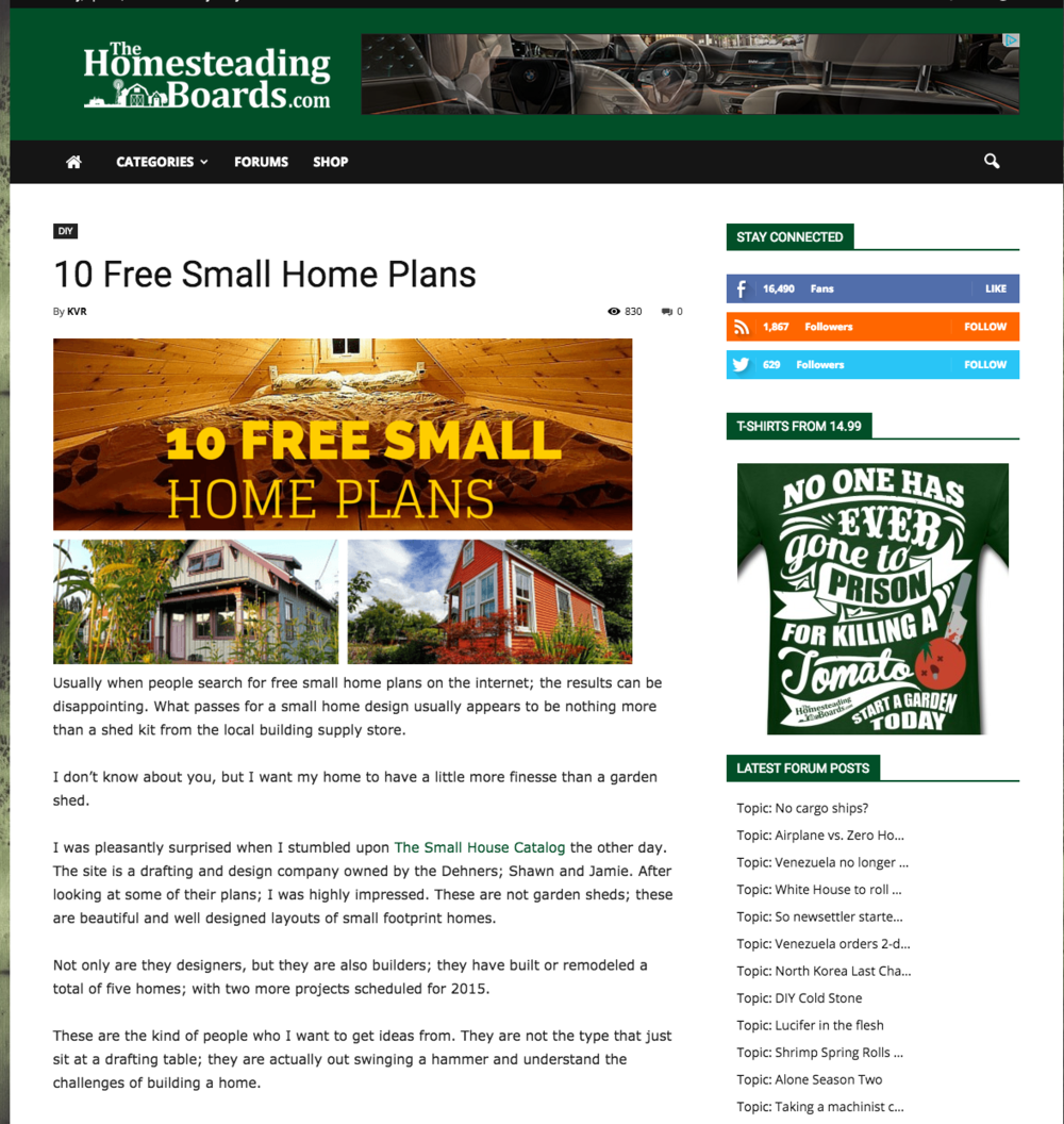 The Homesteading Boards