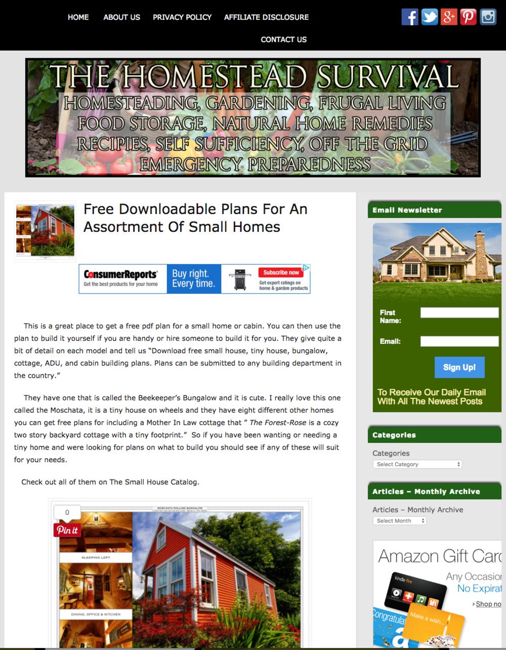 The Homestead Survival Blog