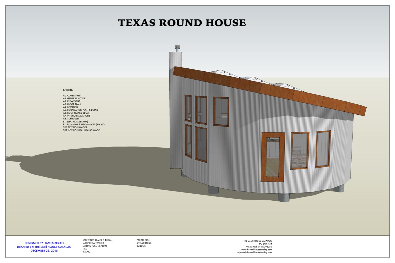 No. 27 - Round House — THE small HOUSE CATALOG Texas Small Home Plans on luxury homes texas, small log homes texas, house plans texas, small house texas, small home builders texas,