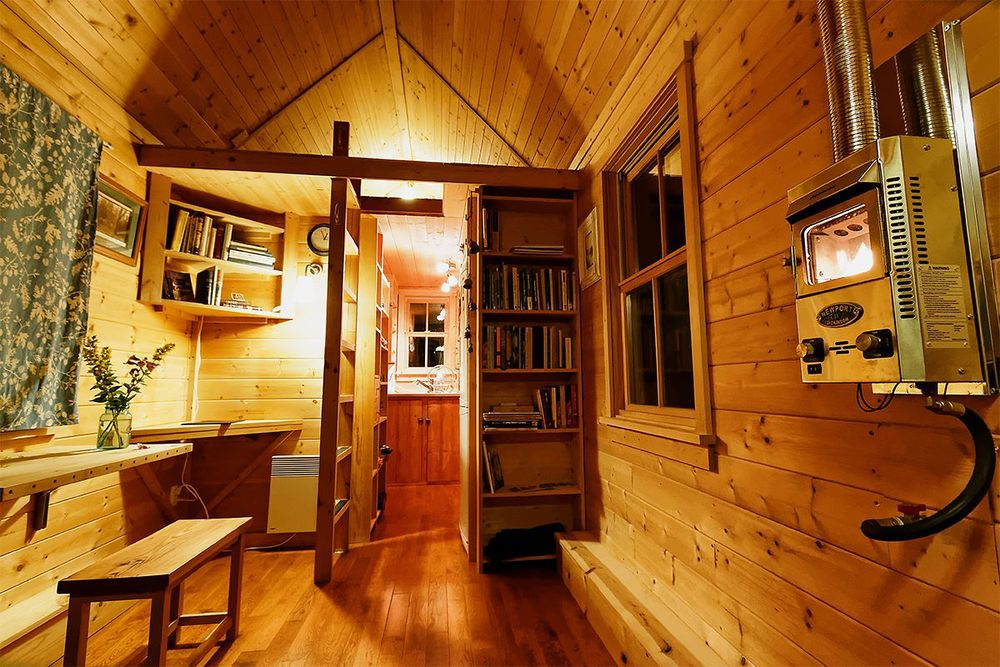 Tiny House Kitchen, Bath and Sleeping Loft