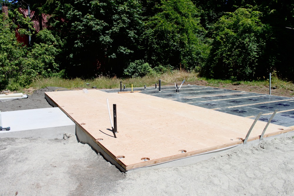 Insulating above & below the slab