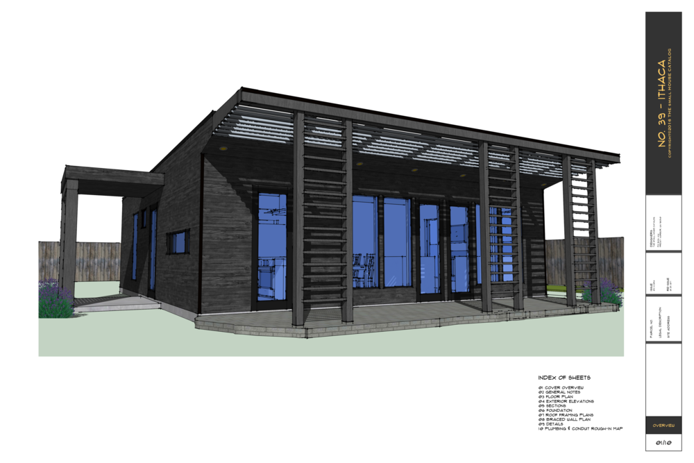 No 39 ithaca house 840 sq ft 2 bedroom 1 bath 1 for Southern exposure house plans