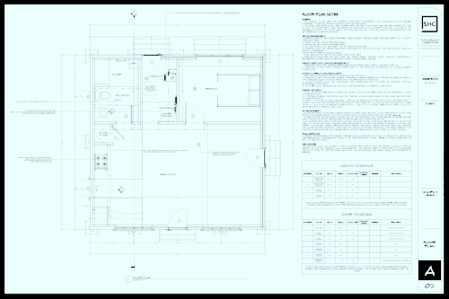 Denman House - floor plan under 800 square feet