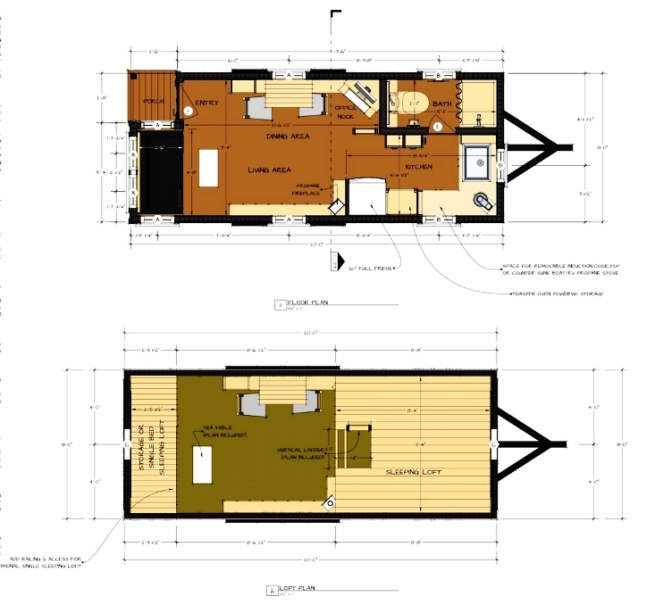 moschata tiny house on wheels floor plans