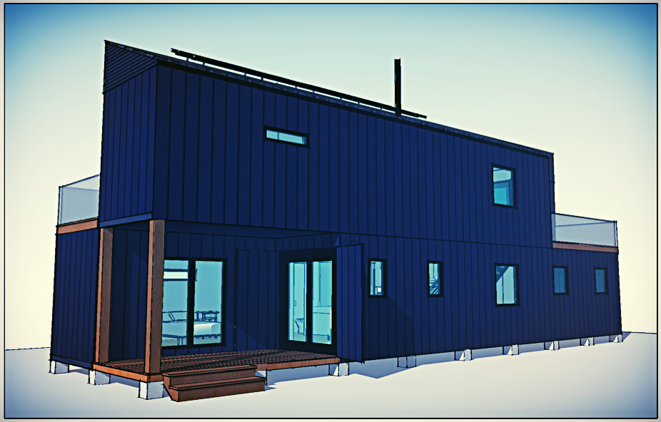 RH2 - Two Stories, 4 Shipping Containers