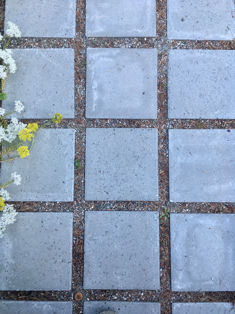 Pavers are an inexpensive way to expand your living space (Ithaca House, Point Roberts, WA)