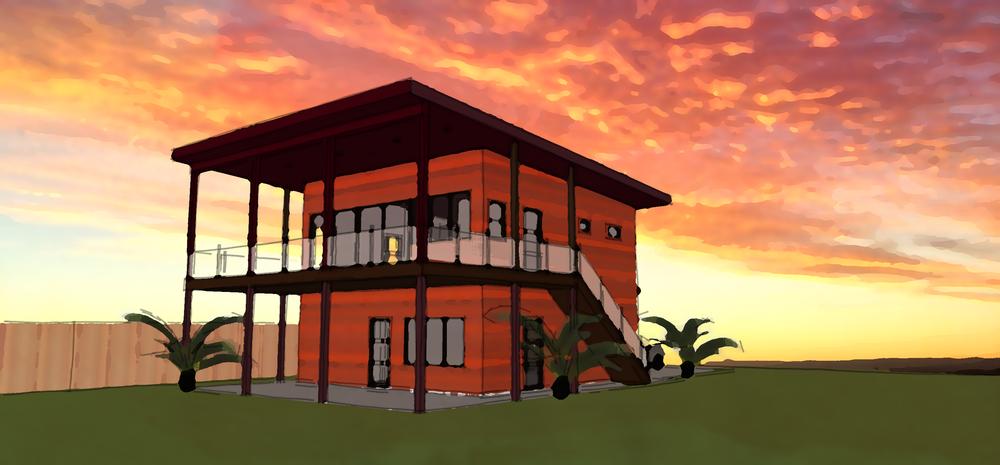 No. 62 Gulf View Apartment Garage Plan