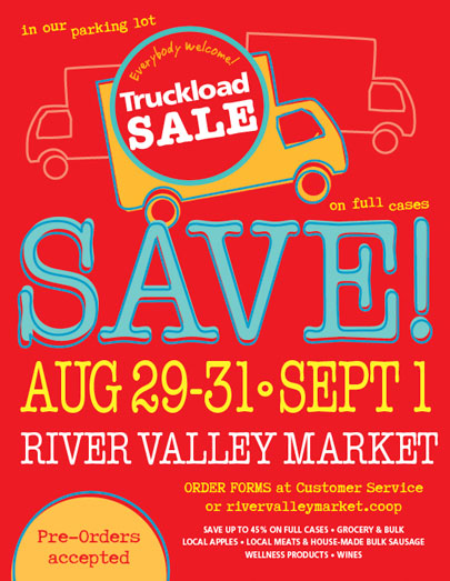 Truckload Sale! August 29-31 and September 1