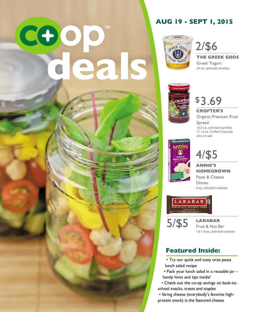 Co+op Deals,August 19 - Sept 1