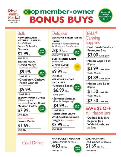 Member-Owner Bonus Buys,August 19 - Sept 1