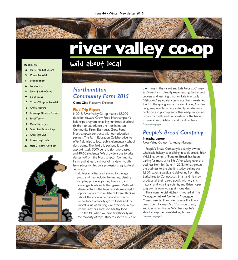 River Valley Co-op Newsletter Winter 2016