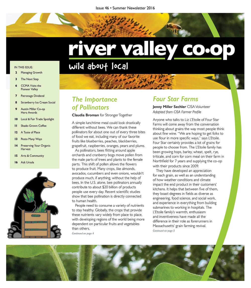 River Valley Co-op Newsletter, Spring 2016
