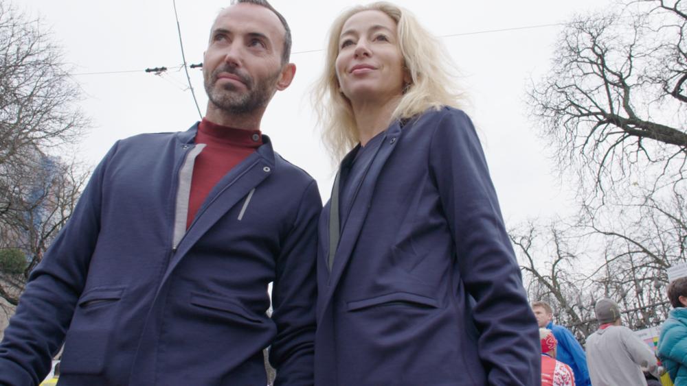 Total look EMYUN avec Hervé Borne sur la Course de l'Escalade à Genève