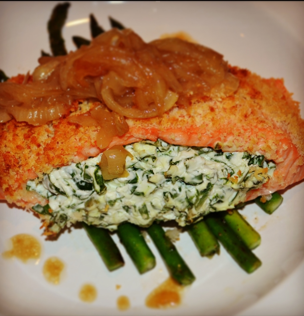 Simply Sensational Stuffed Salmon