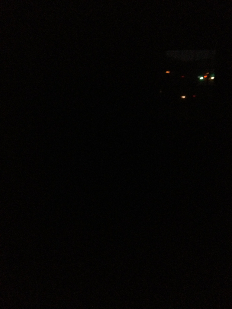 Blackout: attempting to get ready for a day of meetings in a hotel with no power is difficult.
