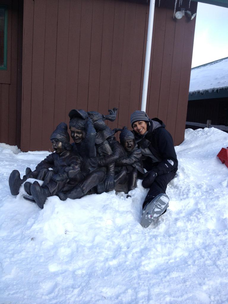 My ski buddies.