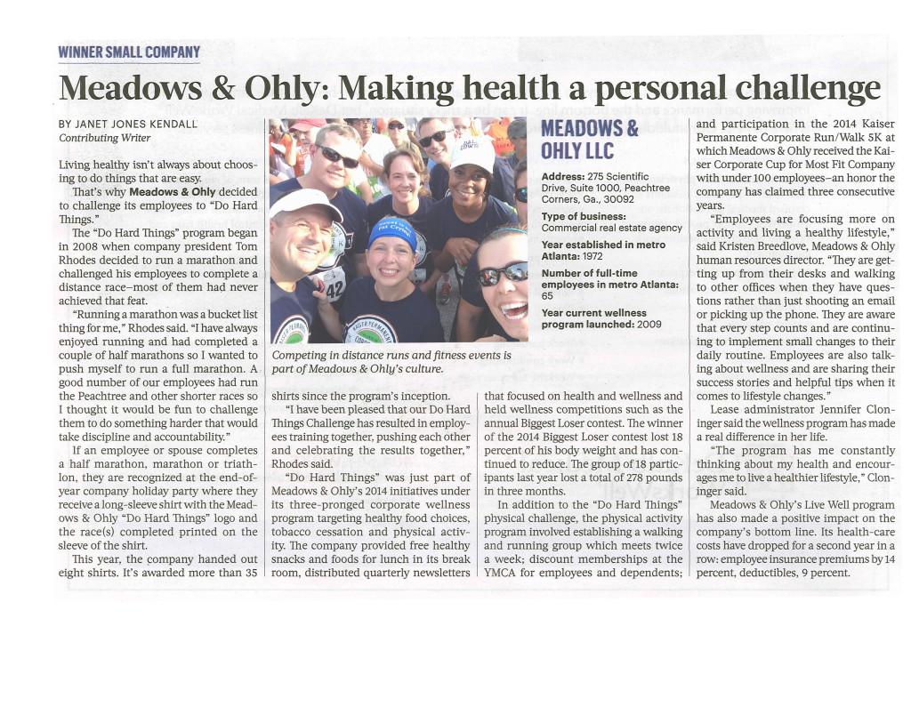 Atlanta Business Chronicle Article