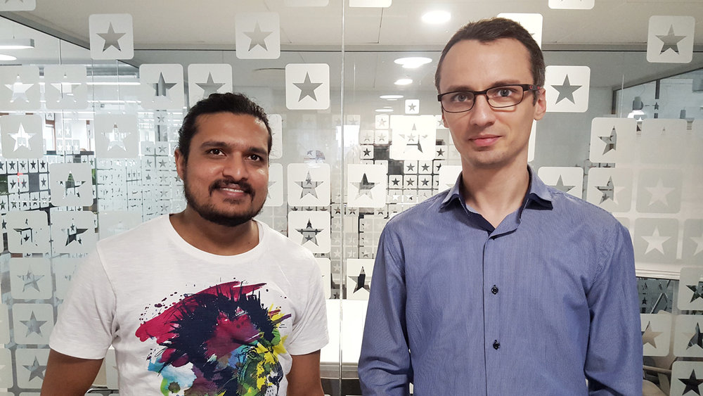 Vikram Mahishi (left) and Dumitru Zavrotschi (right) from the Trustpilot team