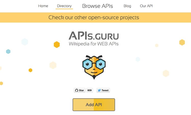 4 methods to make your api truly discoverable runscope blog the apisru directory website showing a big yellow button add malvernweather Images