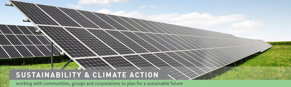 Sustainability & Climate Action:  working with communities, groups and corporations to plan for a sustainable future.